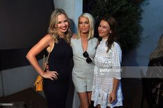 NBCUniversal Press Tour, August 2015 -- Spago Party -- Pictured: (l-r) Marissa Hermer, Caroline Stanbury, Juliet Angus, Bravo's 'Ladies of London' --