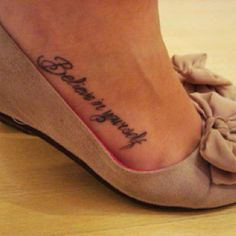 Foot tattoo!!