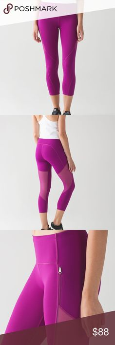 """Lululemon Rush Hour 21"""" Crop NWT/10 DFUS Lululemon Rush Hour 21"""" Crop NWT/10 DFUS (deep fuchsia) 🔴ALWAYS OPEN TO OFFERS-unless marked firm on price 🔴OFFERS SHOULD BE MADE THROUGH POSH OFFER FEATURE 🔴PRICES NOT DISCUSSED IN COMMENTS  🔴FEEL FREE TO ASK ANY QUESTIONS  ❌NO TRADES lululemon athletica Pants Ankle & Cropped"""