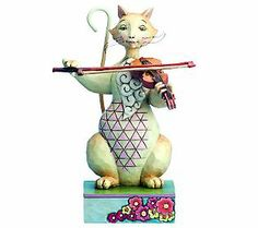 Jim Shore Heartwood Creek Cat with Fiddle Figurine