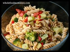 Party Pasta Salad (great for potlucks!) Whole Food Recipes