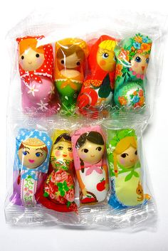 Matrioshka japanese sweets #matrioshka #candy #packaging