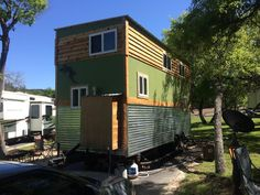A 288 square feet (lots included) tiny house on wheels in Austin, Texas