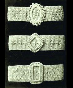 Popular Crocheted Belts – Vintage Crochet Pattern.  Ladies, Women Fashion Accessory. PDF Instant Download by FamousPatterns on Etsy