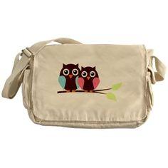 Cute Owls Messenger Bag