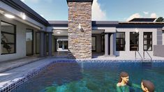 5 Bedroom House Plan – My Building Plans South Africa Split Level House Plans, Square House Plans, Metal House Plans, My House Plans, My Building, Building Plans, Home Design Plans, Plan Design, 6 Bedroom House Plans