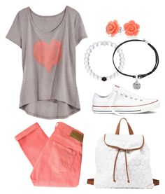 """""""Thought This Was Cute"""" by twaayy ❤ liked on Polyvore featuring Maison Scotch, Bling Jewelry, Charlotte Russe, Converse and Alex and Ani"""