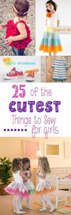 Have a little girl in your life to sew for? Here are 25 of the cutest things to sew for girls.