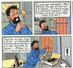 ----- camelos lendo: Capitaine Haddock - Tintin - Hergé, Quadrinhos..