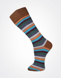 Effio X Effio Bloom of Life - Nicety no.710 #Men #Fashion #Socks #Stripes #Brown