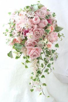 ブーケ ナチュラルキャスケード クレア : 一会 ウエディングの花