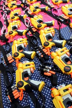 Nerf Wars Birthday Party Ideas | Photo 1 of 77 | Catch My Party Look inside for more great photos