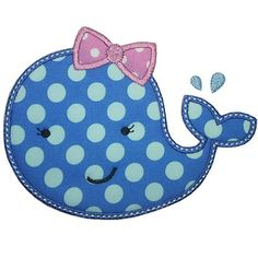Girly Whale Applique