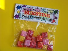 First Day of School Candy Treat Printable | Kandy Kreations