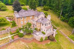 Aerial photos help showcase the house and surrounding land in a way thats not always seen. How beautiful is this home in Spring City, PA!? #aerialphotography #beautifulhome #property #listing #realestate #realtor #househunting