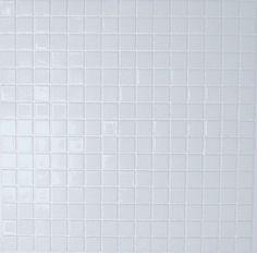 Pâtes de verre Blanc lisse, mosaique salle de bain ou carrelage piscine