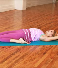 "Day 79: EXERCISE TIP-- MEDITATE IN THE ""RECLINED HERO'S POSE""."