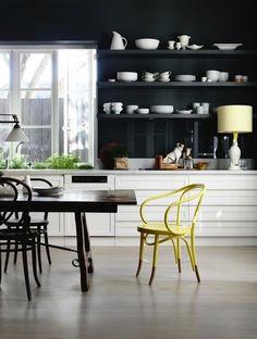 Черно-белая кухня, советы по оформлению, фото стильных кухонь