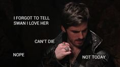 "internal monologue of Hook. - ""The Heart of the Truest Believer"" (? Once Upon A Time Funny, Once Up A Time, Captain Hook Quotes, Snow And Charming, Internal Monologue, Abc Shows, The Worst Witch, Colin O'donoghue, Jennifer Morrison"