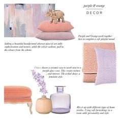 """Colour Challenge : Purple & Orange Decor"" by rachaelselina ❤ liked on Polyvore featuring interior, interiors, interior design, home, home decor, interior decorating, OKA, John Robshaw, Zara Home and CB2"