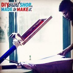 the DIY PRINT SHOP 1-COLOR PRESS AKA THE DREAM PRINT MACHINE IN ACTION  #diyprintshop #screenprinting #dreams #inspire #doityourself #printmaking #printshop #madetomake #diykit #silkscreen #diyproject by diyprintshop