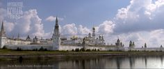 Moscow Kremlin in early 1800s, before it became red