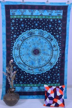 Zodiac Tapestry Twin Sheets Wall Hanging Tapestry Hippie Cotton Tapestry Boho