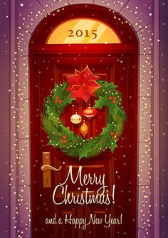 Find Door Decoration Christmas Card Poster Banner stock images in HD and millions of other royalty-free stock photos, illustrations and vectors in the Shutterstock collection. Christmas Card Sayings, Christmas Greeting Cards, Christmas Pictures, Christmas Greetings, Christmas Mood, Merry Little Christmas, Merry Christmas, Christmas 2014, Cute Christmas Wallpaper