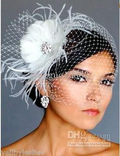 Wholesale IVORY Rhinestone BROOCH Fascinator Headpiece amp; BIRDCAGE Bridal VEIL 21 f58, Free shipping, $34.88-42.48/Piece | DHgate