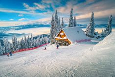 The best popular winter ski resort with skiers in Romania. Amazing touristic and winter holiday destination. Winter sunny day in Poiana Brasov ski resort, Cities In Utah, Winter Holiday Destinations, Jackson Hole Mountain Resort, Visit Romania, Romania Travel, Best Ski Resorts, Amazing Destinations, Vacation Trips, Vacations