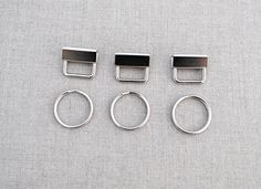 Metal key fob key ring pack of 3 by CloudCraftShop on Etsy