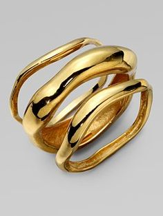 Wave Bangle Bracelet Set by Kara Ross #Jewelry #Bracelet #Kara_Ross