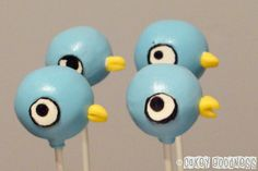 Mo Willems Pigeon cake pops!!! Who do I know that can make these?!?