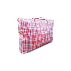 Laundry Bags With Handles Impressive Large Plastic Checkered Storage Laundry Shopping Bags Wzipper Design Inspiration