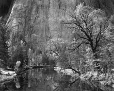 Merced River Cliffs by Ansel Adams