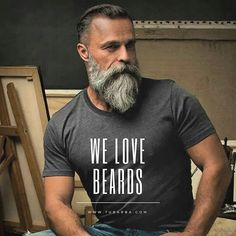 Long Beard Styles, Hair And Beard Styles, Long Hair Styles, Grey Beards, Long Beards, Moustache, Beard Barber, Beard Shapes, Hipster Beard