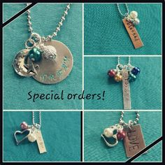 Handstamped jewelry by l.creations