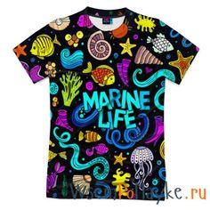 Мужская футболка 3D с полной запечаткой Marine Life купить в интернет магазине WsemPoMayke.Ru http://wsempomayke.ru/product/manshortfull/1064560  Доставка по России курьером или почтой, оплата при получении. Посмотреть размеры и цену > http://wsempomayke.ru/product/manshortfull/1064560