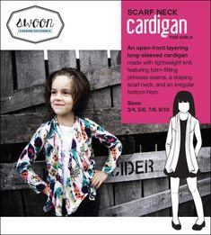 Girls scarf neck cardigan free PDF download!