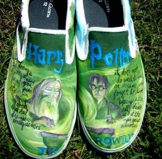 Items similar to Harry Potter Shoes (Custom Ordered) on Etsy Harry Potter Shoes, Phoenix Feather, Harry And Ginny, Mischief Managed, Shoe Art, Painted Shoes, Percy Jackson, Cute Shoes, Trending Outfits