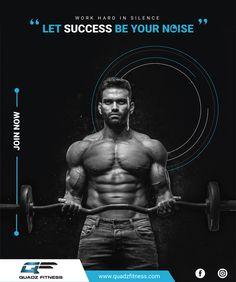 Quadz Fitness - Poster Design on Behance
