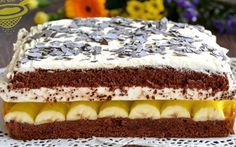 Archívy Dezerty - Page 29 of 41 - Receptik. Cookie Desserts, Sweet Desserts, Cake Recipes, Dessert Recipes, Czech Recipes, Food Cakes, Graham Crackers, No Bake Cake, Baked Goods