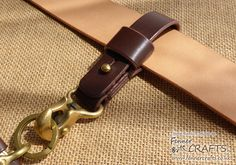 Fenner CRAFTS Beaked Hook Leather Belt Loop for Keys or Wallet Chain - http://www.fennercrafts.co.uk/Shop_Product_Pages/BeakHookBeltLoop.html