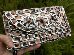 Upcycled soda pop tab clutch purse by BeasCollectibles. $47.00 on Etsy
