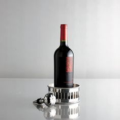 Wine Coaster & Wine Stopper Set - an elegant presentation for your favorite vintage.