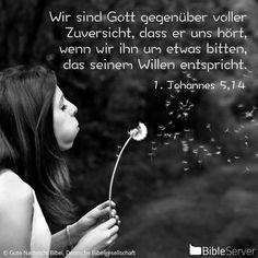 Nachzulesen auf BibleServer   1. Johannes 5,14