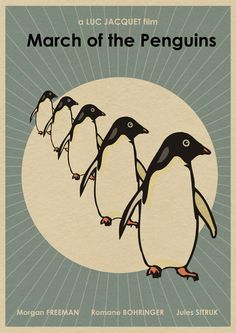 March of the Penguins 16x12 Movie Print