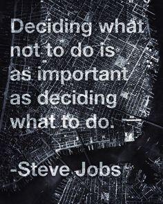 Deciding What Not To Do