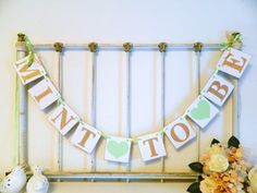 MINT TO BE Engagement Party Banner - Gold & Mint Bridal shower Decor - Gold and Mint Wedding - Bridal shower Decor - Green Bridal Showers, Tropical Bridal Showers, Wedding Showers, Best Wedding Colors, Wedding Cards Handmade, Trendy Wedding, Gold Wedding, Dream Wedding, Wedding Ideas