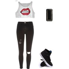 Untitled #13 by liliamperera on Polyvore featuring polyvore, fashion, style, River Island, Supra and Valentino